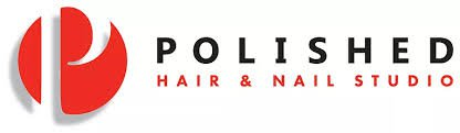 Logo of a 'Polished Hair & Nail Studio'